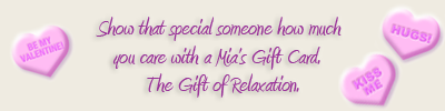 Say I love you with a Mia's Gift Card!
